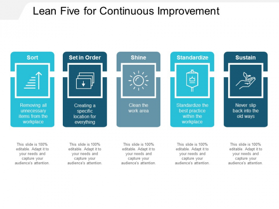 Lean Five For Continuous Improvement Ppt PowerPoint Presentation Outline Example File