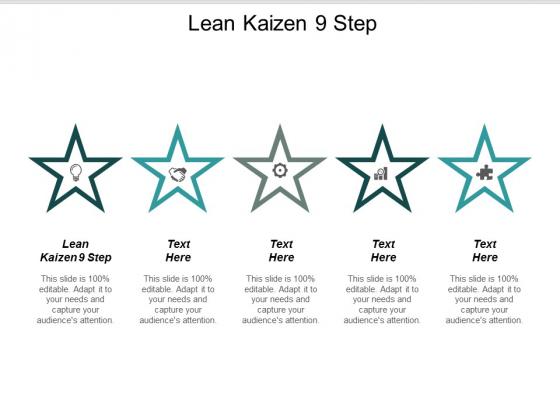 Lean Kaizen 9 Step Ppt Powerpoint Presentation Portfolio Rules Cpb