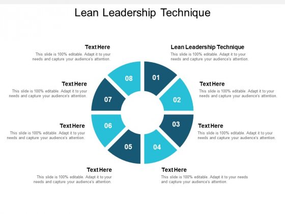 Lean Leadership Technique Ppt PowerPoint Presentation Infographics Samples Cpb