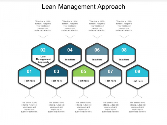 Lean Management Approach Ppt PowerPoint Presentation Slides Graphics Tutorials Cpb