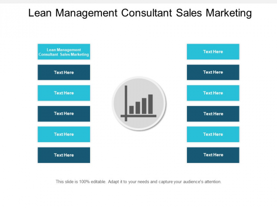 Lean Management Consultant Sales Marketing Ppt PowerPoint