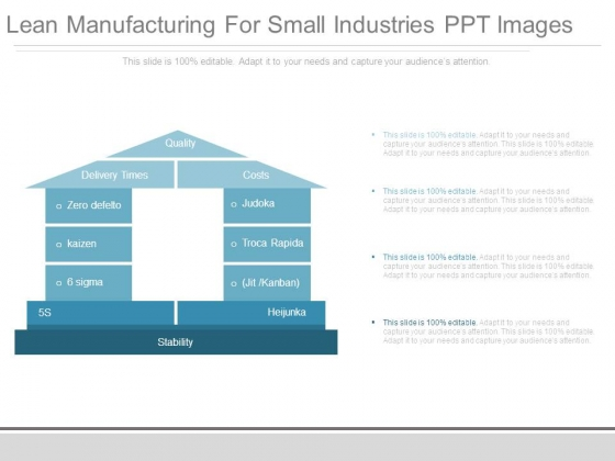 Lean Manufacturing For Small Industries Ppt Images