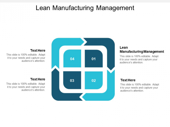 Lean Manufacturing Management Ppt PowerPoint Presentation Professional File Formats Cpb