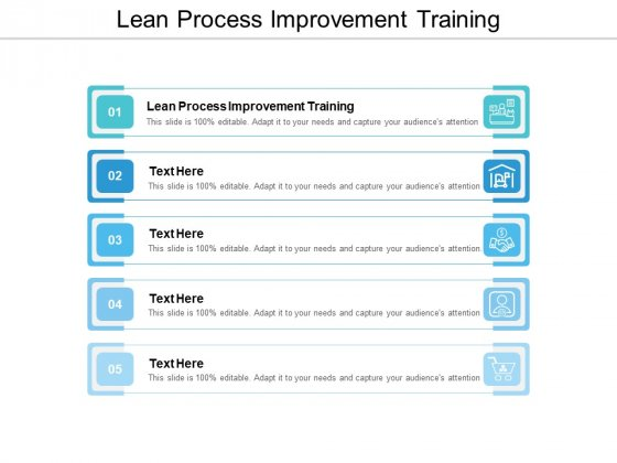Lean Process Improvement Training Ppt PowerPoint Presentation Inspiration File Formats Cpb