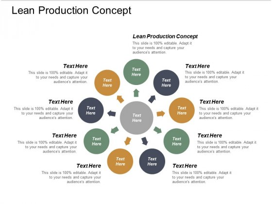 Lean Production Concept Ppt PowerPoint Presentation File Clipart Images Cpb