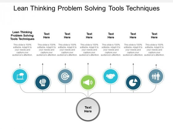 Lean Thinking Problem Solving Tools Techniques Ppt PowerPoint Presentation Layouts Graphic Images Cpb