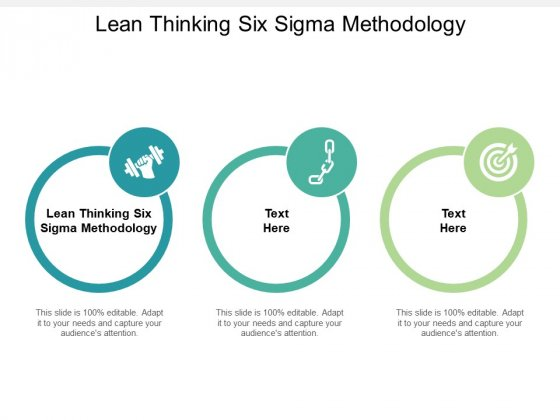Lean Thinking Six Sigma Methodology Ppt PowerPoint Presentation Outline Gallery Cpb