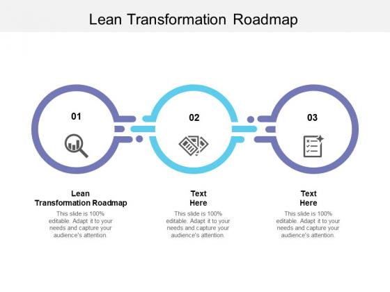 Lean Transformation Roadmap Ppt PowerPoint Presentation File Show Cpb