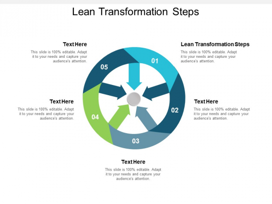 Lean Transformation Steps Ppt PowerPoint Presentation Ideas Infographics Cpb