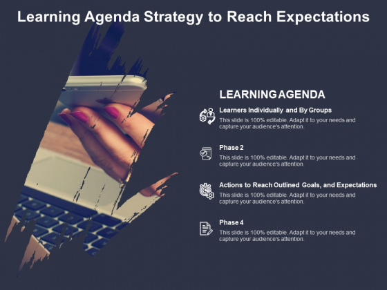 Learning Agenda Strategy To Reach Expectations Ppt PowerPoint Presentation Infographic Template Layout Ideas