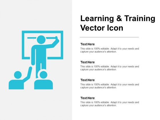 Learning And Training Vector Icon Ppt PowerPoint Presentation Infographic Template Background Image