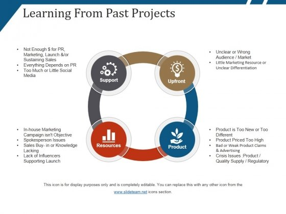 Learning From Past Projects Ppt PowerPoint Presentation Gallery Inspiration