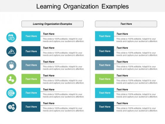 Learning Organization Examples Ppt PowerPoint Presentation Icon Portfolio Cpb