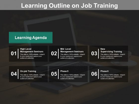 Learning Outline On Job Training Ppt PowerPoint Presentation Infographics Information