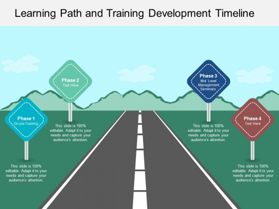 Learning_Path_And_Training_Development_Timeline_Ppt_PowerPoint_Presentation_File_Layout_Slide_1