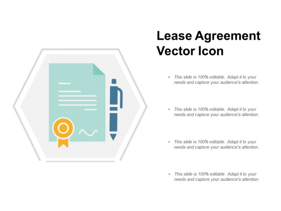 Lease Agreement Vector Icon Ppt PowerPoint Presentation Ideas Example Introduction