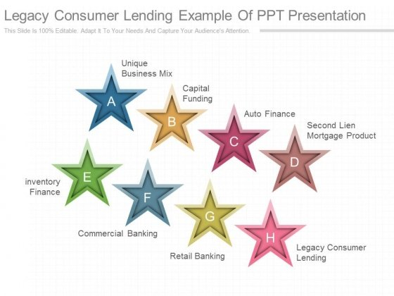 Legacy Consumer Lending Example Of Ppt Presentation