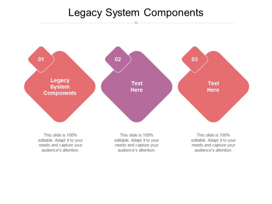 Legacy System Components Ppt PowerPoint Presentation Portfolio Visuals Cpb