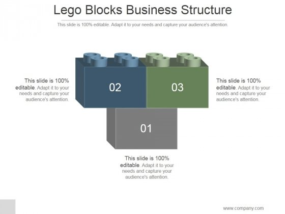 Lego Blocks Business Structure Ppt PowerPoint Presentation Good