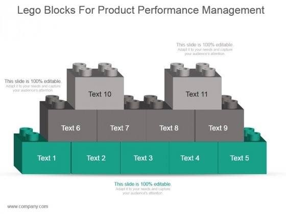 Lego Blocks For Product Performance Management Ppt Slide Styles