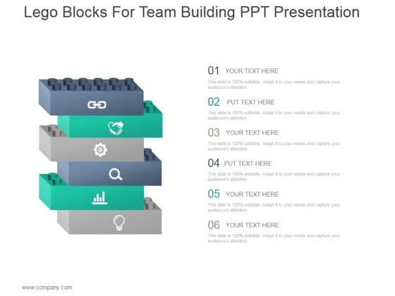 Lego Blocks For Team Building Ppt PowerPoint Presentation Outline