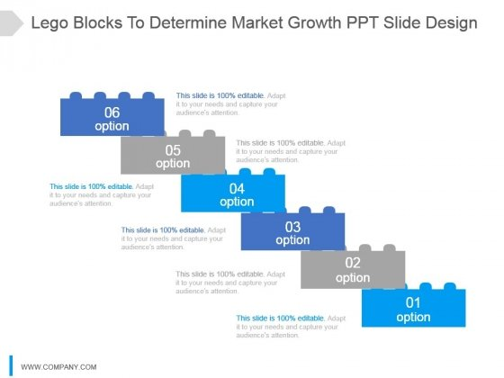 Lego Blocks To Determine Market Growth Ppt Slide Design