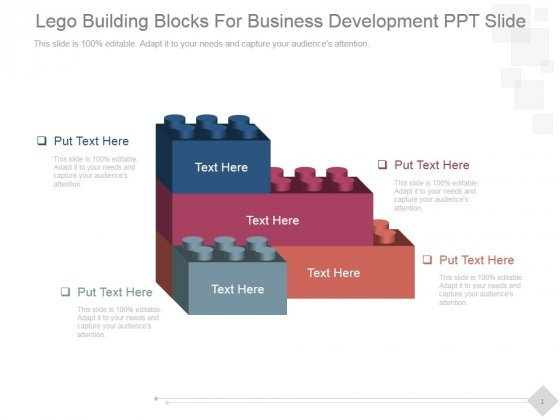 Lego Building Blocks For Business Development Ppt PowerPoint Presentation Clipart