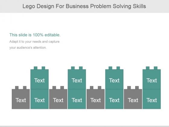 Lego Design For Business Problem Solving Skills Ppt PowerPoint Presentation Samples