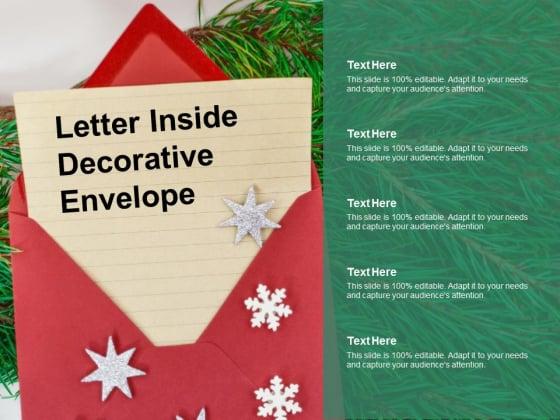 Letter Inside Decorative Envelope Ppt PowerPoint Presentation File Slides