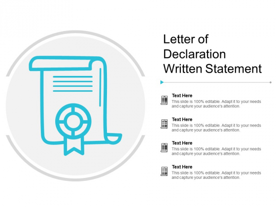 Letter Of Declaration Written Statement Ppt PowerPoint Presentation Outline Example Introduction