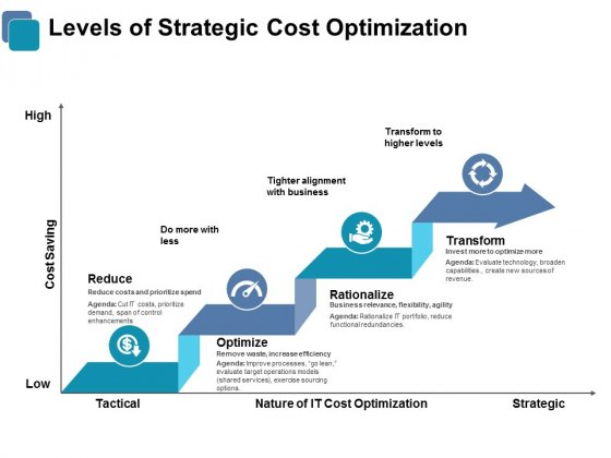 Levels Of Strategic Cost Optimization Ppt PowerPoint Presentation Outline Graphics Design