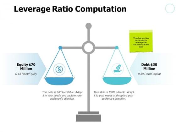 Leverage Ratio Computation Compare Ppt PowerPoint Presentation Slides Slideshow