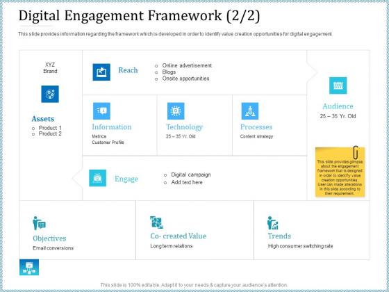 Leveraged Client Engagement Digital Engagement Framework Reach Mockup PDF