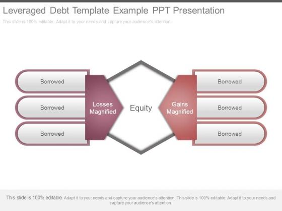Leveraged Debt Template Example Ppt Presentation