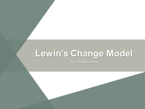Lewins Change Model Ppt PowerPoint Presentation Complete Deck With Slides
