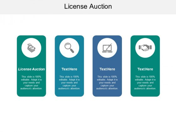 License Auction Ppt PowerPoint Presentation Outline Guide Cpb