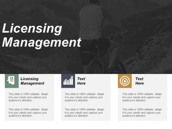 Licensing Management Ppt PowerPoint Presentation Inspiration Layouts Cpb