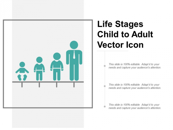 Life Stages Child To Adult Vector Icon Ppt PowerPoint Presentation Slides Picture