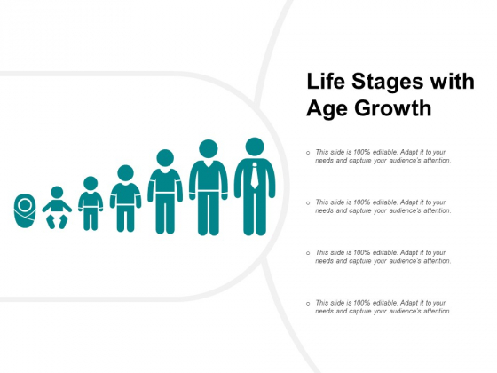 Life Stages With Age Growth Ppt PowerPoint Presentation Inspiration Slideshow