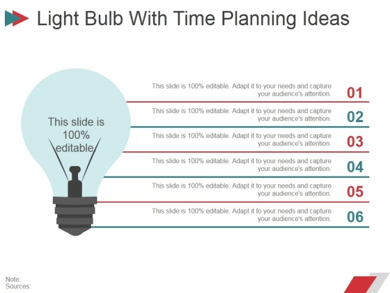 Light Bulb With Time Planning Ideas Ppt PowerPoint Presentation Infographic Template Templates