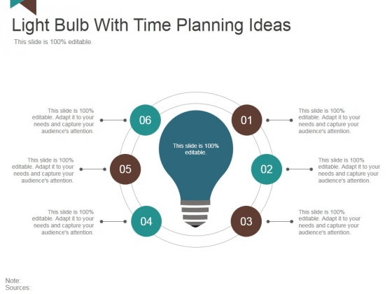 Light Bulb With Time Planning Ideas Ppt PowerPoint Presentation Infographics Format Ideas