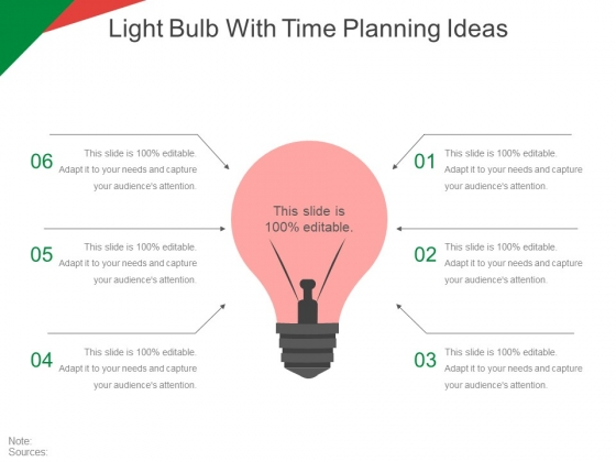 Light Bulb With Time Planning Ideas Ppt PowerPoint Presentation Infographics Graphics Template