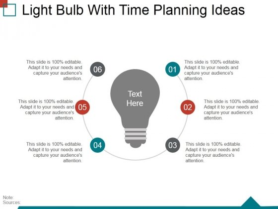 Light Bulb With Time Planning Ideas Ppt PowerPoint Presentation Layouts Smartart