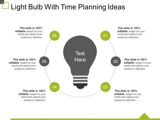 Light Bulb With Time Planning Ideas Ppt PowerPoint Presentation Show Background Images