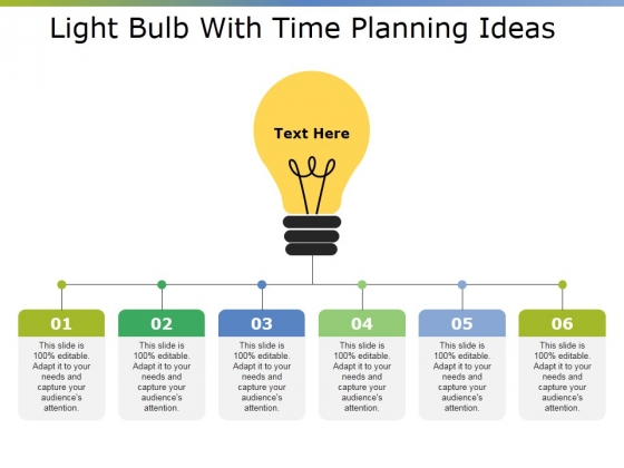Light Bulb With Time Planning Ideas Ppt PowerPoint Presentation Slides Ideas