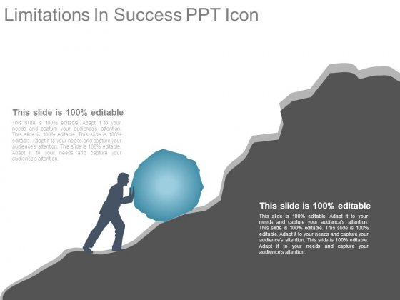 Limitations In Success Ppt Icon