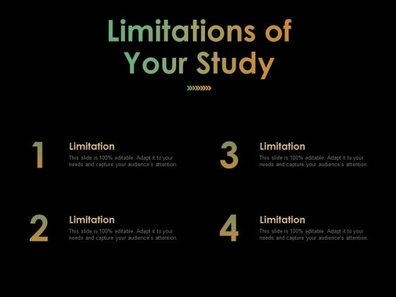 Limitations Of Your Study Ppt PowerPoint Presentation Graphics