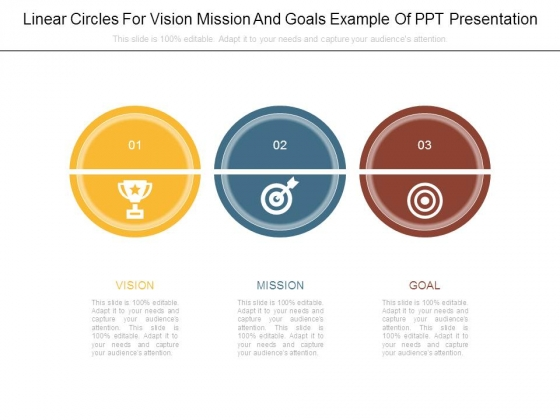 Linear Circles For Vision Mission And Goals Example Of Ppt Presentation