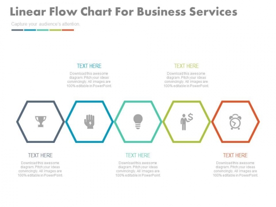 linear infographic chart for quick business plan powerpoint template