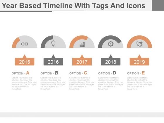 Linear Steps Timeline Chart And Icons Powerpoint Slides